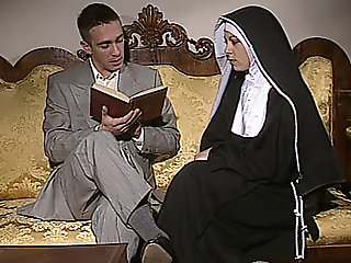 Shy Nun gets her ass.., anal