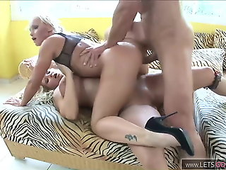 extreme threesome! with.., blowjob