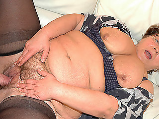 chubby grandma in love.., blowjob