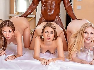 Three young beauty.., group sex
