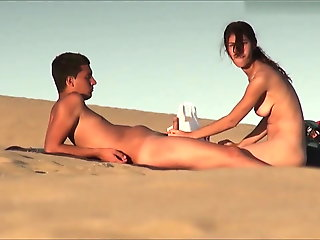 nudist couple, amateur